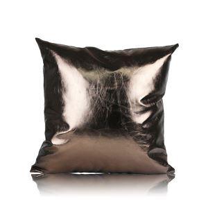 Post Modern Metallic Color Sofa Cushion PU Soft Pillow Cover Car Cushion Office Pillow Cover 30*50cm