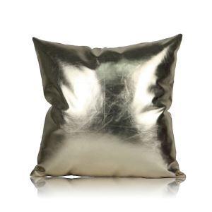 Post Modern Metallic Color Sofa Cushion PU Soft Pillow Cover Car Cushion Office Pillow Cover 60*60cm