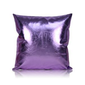 Post Modern Pillow Case Metallic Color Sofa Cushion PU Soft Pillow Cover Car Cushion Office Pillow Cover 60*60cm