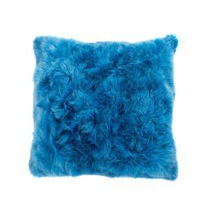 Faux Fur Pillow Cover Bright Blue Faux Fox Fur Pillow Cover Car Pillow Cover 40*40cm