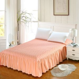 Modern Simple Bedding Clip Cotton Quilting Bed Skirt 180*200cm