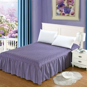 Modern Simple Bedding Clip Cotton Quilting Bed Skirt 150*200cm