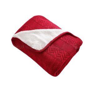 Modern Rural French Thicken Plus Plush Cotton Knitting Aircraft Blanket