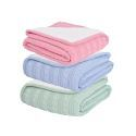 Plus Plush Twisted Pattern Knitting Aircraft Blanket Sofa Covered Blanket 150*200cm