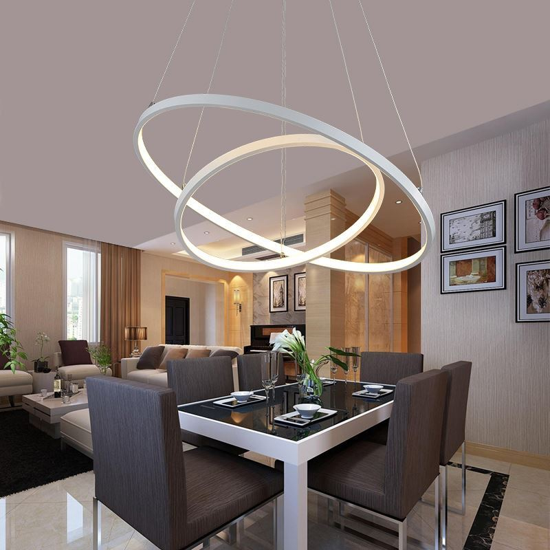 Light Filled Contemporary Living Rooms: Led Ring Pendant Light LED Pendant Light Contemporary