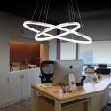 LED Pendant Light Acrylic 2 Rings Lamp 60+40cm (I'll Be Your Backbone)