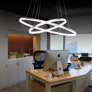 Modern Simple LED Pendant Light Metal + Acrylic White / Warm White Light LED Patch Ceiling Light Energy Saving(I'll Be Your Backbone)