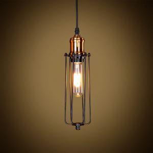 American Rural Industrial Retro Style Iron Craft Black / Copper Color Lamphead Pendant Light