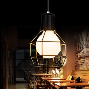 American Rural Industrial Retro Style Iron Craft Black Cable Pendant Light