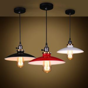 American Rural Industrial Retro Style Iron Craft UFO Modeled Pendant Light