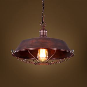 American Rural Industrial Retro Style Iron Craft Rust-colored Pendant Light