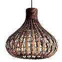 Hand-Made Rattan Pendant Light 40W Natural Design