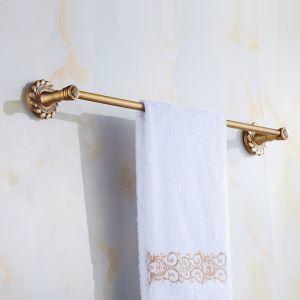 European Vintage Bathroom Accessories Towel Rack Antique Brass Towel Bar