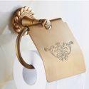 European Vintage Bathroom Accessories Toilet Roll Holder Antique Brass Paper Holder
