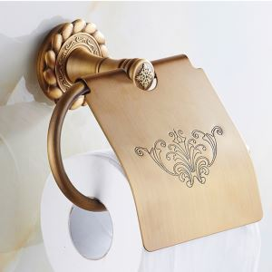 European Vintage Bathroom Accessories Toilet Roll Holder Antique Brass Paper Holder