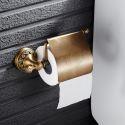 European Vintage Bathroom Accessories Antique Brass Toilet Brush Holder