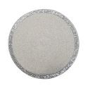 Handmade Beaded White Glass Bead Silver Sequined Splice Edge High End Luxury Placemat