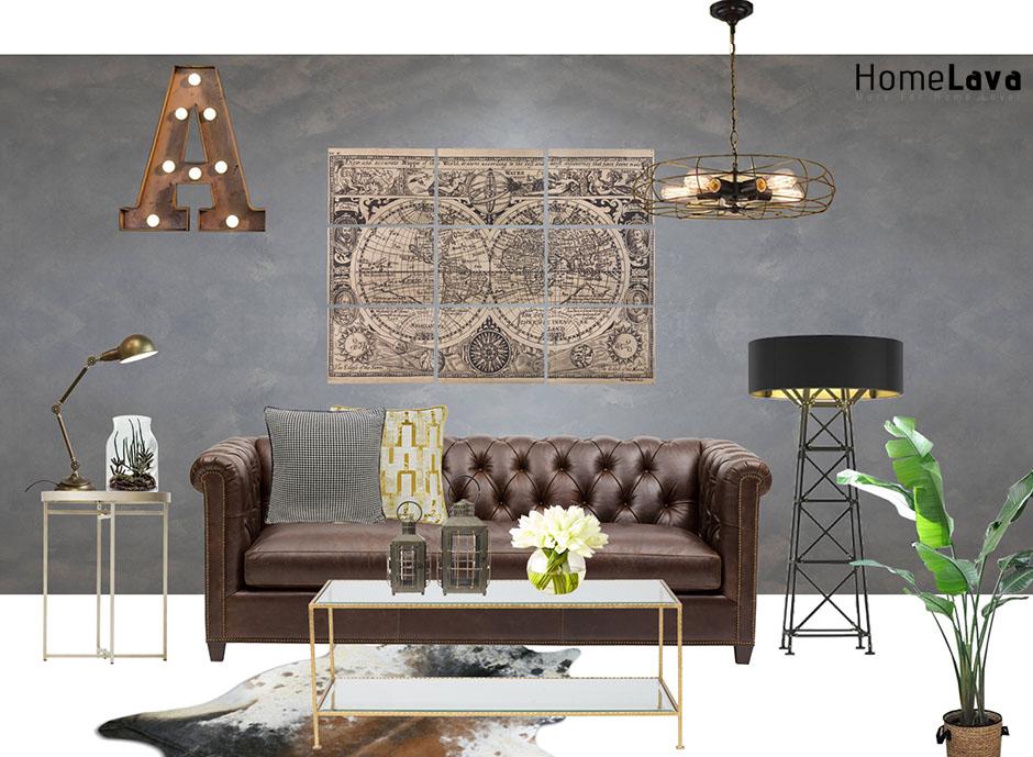 luxury industria living room