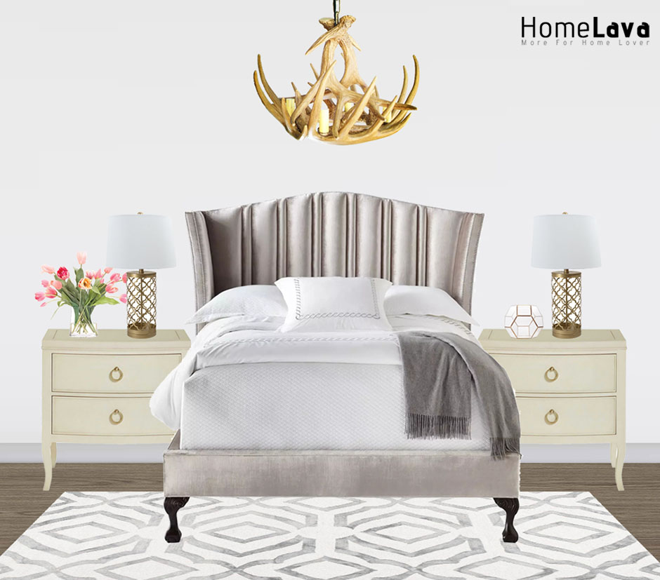 Inspiration for a transitional bedroom