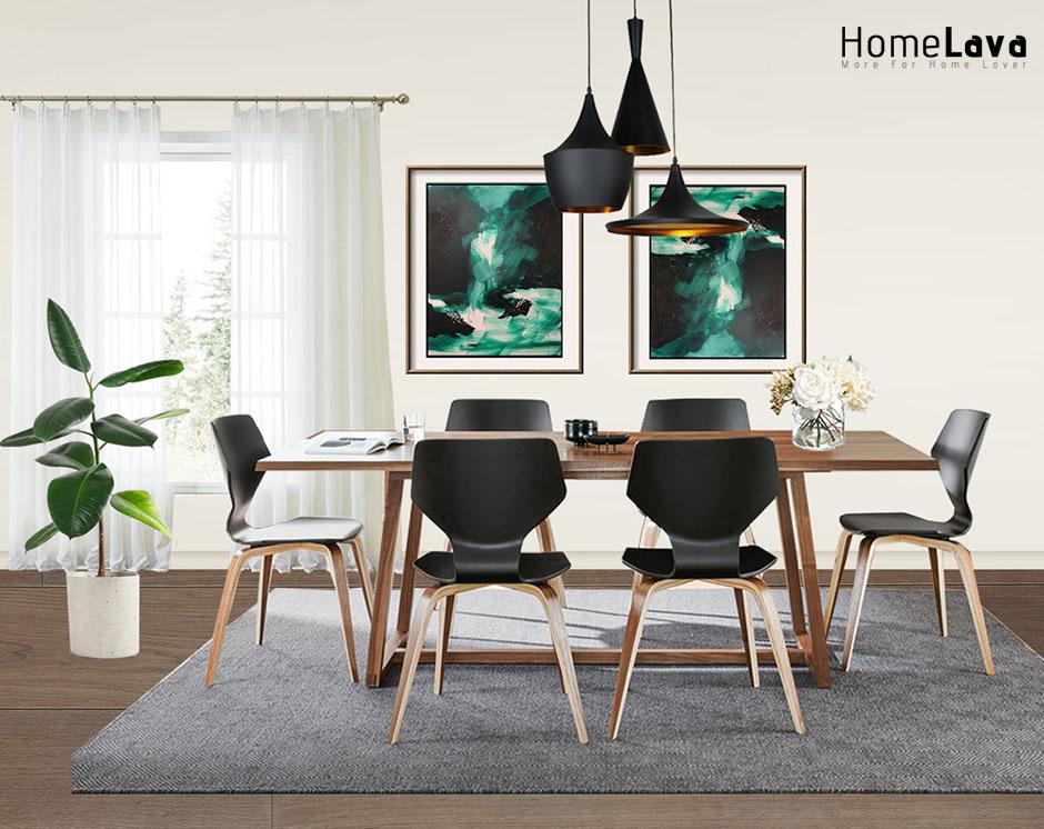 A minimalist dining room design