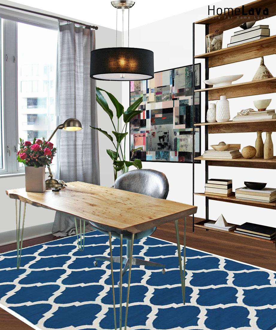 A trendy study room design