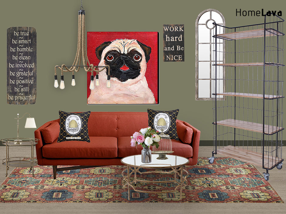 Fashion industry style living room