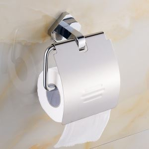 Modern Simple Style Bathroom Products Bathroom Accessories Copper Art Chrome Color Toilet Roll Holders