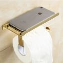 Modern Simple Style Bathroom Products Bathroom Accessories Copper Art Mobile Phone Toilet Roll Holders(Two Types)
