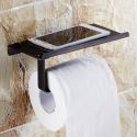 European Style Bathroom Products Bathroom Accessories Copper Art Black Retro Mobile Phone Toilet Roll Holders