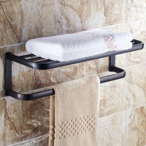 European Style Bathroom Products Bathroom Accessories Copper Art Black Retro Towel Rack