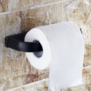 European Style Bathroom Products Bathroom Accessories Copper Art Black Retro Toilet Roll Holders