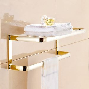 Modern Simple Style Bathroom Products Bathroom Accessories Copper Art Gold Towel Rack