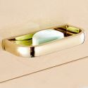 Modern Simple Style Bathroom Products Bathroom Accessories Copper Art Gold Soap Holder