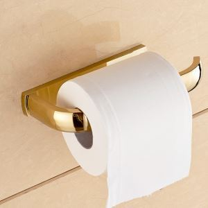 Modern Simple Style Bathroom Products Bathroom Accessories Copper Art Gold Toilet Roll Holders