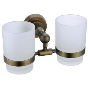 European Style Bathroom Products Bathroom Accessories Copper Art Retro Toothbrush Cup Holder