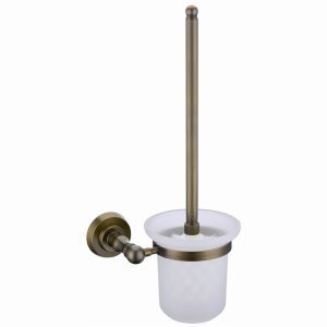 European Style Bathroom Products Bathroom Accessories Copper Art Retro Toilet Brush Holder