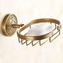 European Retro Style Bathroom Products Bathroom Accessories Copper Art Soap Holders
