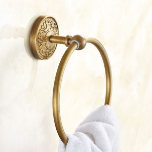 European Retro Style Bathroom Products Bathroom Accessories Copper Art Towel Ring