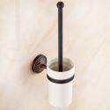 European Retro Style Bathroom Products Bathroom Accessories Copper Art Toilet Brush Holder