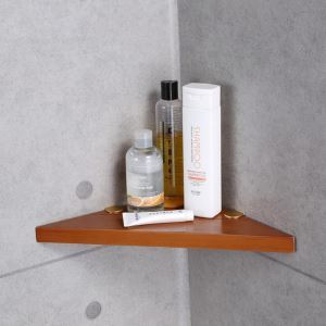 European Simple Style Bathroom Products Bathroom Accessories Wood Art Triangle Bath Shelf