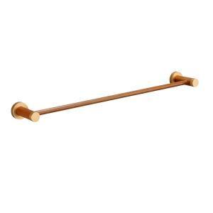 European Simple Style Bathroom Products Bathroom Accessories Wood Art Single Rod Towel Bar
