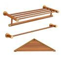 European Simple Style Bathroom Products Bathroom Sets Towel Rack Single Rod Towel Bar Triangle Bath Shelf