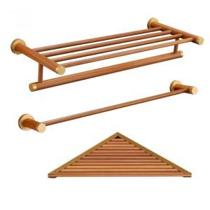 European Simple Style Bathroom Products Bathroom Sets Towel Rack Single Rod Towel Bar Triangle Bath Shelf