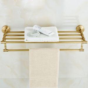 European Retro Style Bathroom Products Bathroom Accessories Copper Art Towel Rack