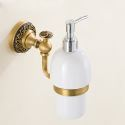 European Retro Style Bathroom Products Bathroom Accessories Copper Art Wall-mounted Hand Sanitizer Cup Holder