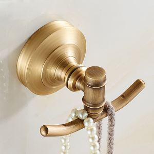 European Retro Style Bathroom Products Bathroom Accessories Copper Art Robe Hook