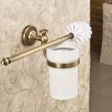Brass Toilet Brush Holder Wall Mount Bathroom Accessories Copper Art Toilet Brush Holder(Two Types)