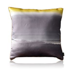 Modern Yellow-gray Gradient Satin Printing Pillow Cover