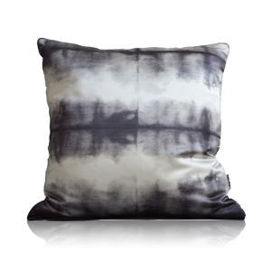 Modern Black And White Watercolor Tie-dye Gradient Printing Satin Pillow Cover