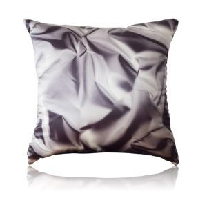 Industrial Style Black And White Metal Texture Patterns Satin Printing Pillow Cover